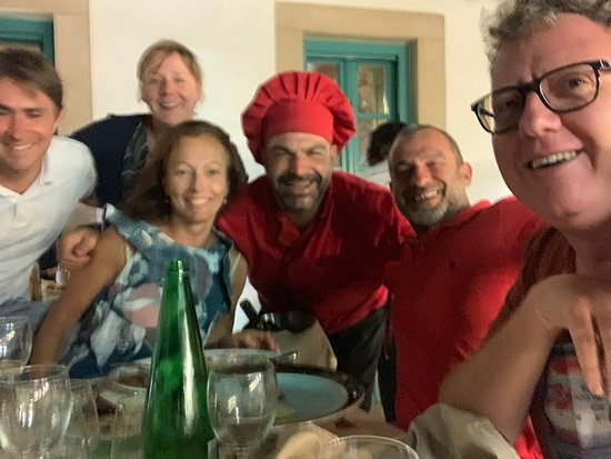 Manolis with Italian friends