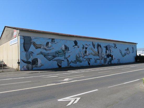 """Fresque """"Sur la voie de la liberté"""""""