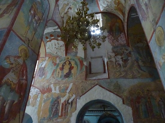 Frescos inside the Cathedral of the Assumption