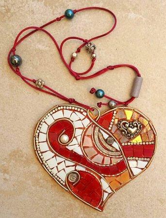 Mosaic,heart,handmade by Mosaics24 in Chanioti Chalkidiki,Makedonia,Greece