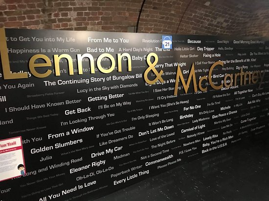 The Beatles Story Experience: Songs written by Lennon and McCartney