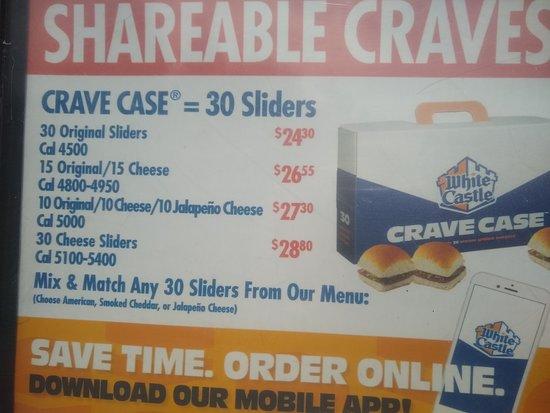 West Hempstead, ניו יורק: charged 30.00 for 30 cheese sliders