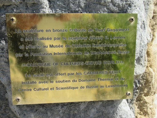 Youri Gagarine: Plaque