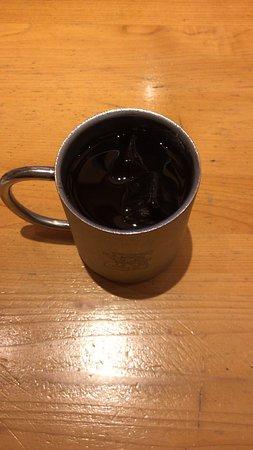 アイスコーヒー と C:名古屋名物おぐらあん (2019/08/22)