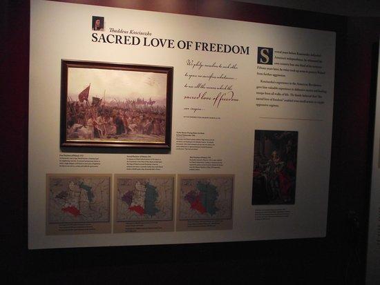 Thaddeus Kosciuszko National Memorial: PA - PHILADELPHIA - KOSCIUSZKO NM #14 - INFO BOARD ON LOVE OF FREEDOM