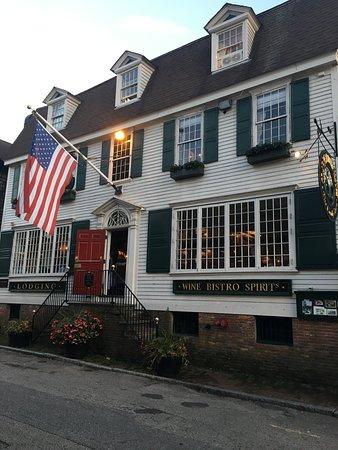 Historic Façade of Clarke Cooke House Restaurant