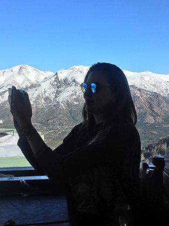 Detalhe da selfie / Confiteria, Cerro Otto, Bariloche.