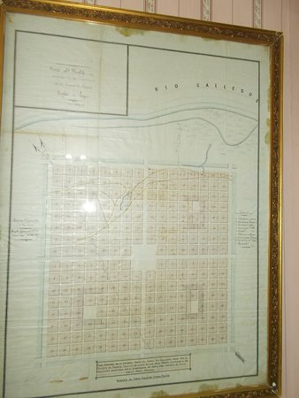 Display of an old map of Rio Gallegos (on the first floor)