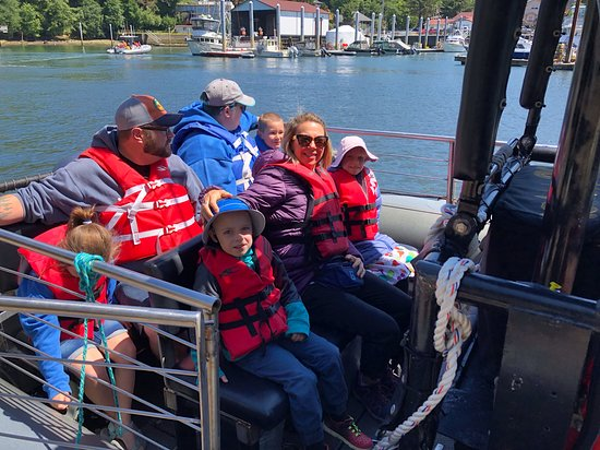 Depoe Bay, OR: Heading out to see gray whales.  Future scientists on board.