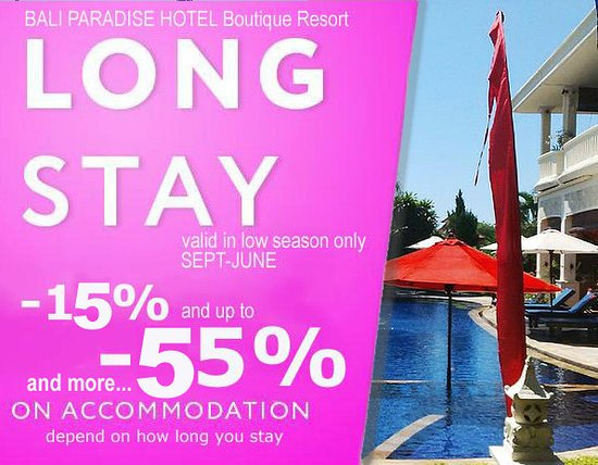 Promotion Long Stay Discount Rates Picture Of Bali Paradise Hotel Boutique Resort Lovina Beach Tripadvisor