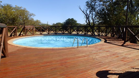 Relaxing pool with a view of the Savannah bush veld...