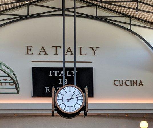 Eataly clock.
