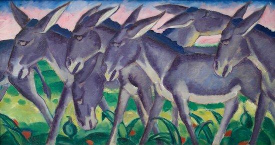Franz Marc, Eselsfries, 1911,  Franz Marc Museum, Kochel a. See,  Dauerleihgabe aus Privatbesitz