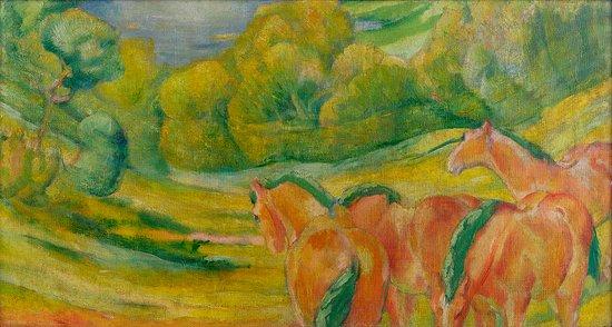 Franz Marc, Große Landschaft I,1910,  Franz Marc Museum, Stiftung Etta und Otto Stangl,  Foto: www.collecto.art