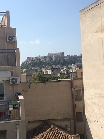 Traditional Greek cooking class and dinner with an Acropolis view: View from the balcony