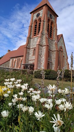 Stanley, Falklandsøerne: Christ Church Cathedral / Whalebone Arch