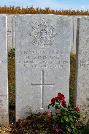 Beaulencourt, ฝรั่งเศส: tumba inidividual