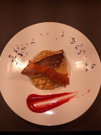 Mezzaluna: Risotto With Red Sea Bream Filett !!