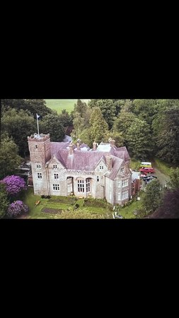 Crossmichael, UK: Wonderful aerial shot of the house 