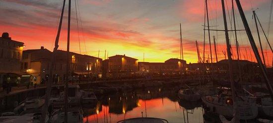 Port de Saint Martin - Coucher de Soleil