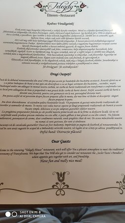 First page of their menu.