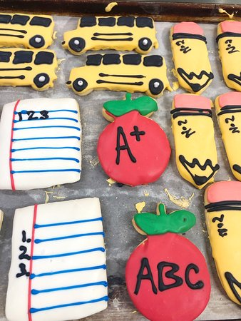 Back to school sugar cookies! Get them while they last!  #Bakery #Cookies #ClearRiver #Fredericksburg #Texas