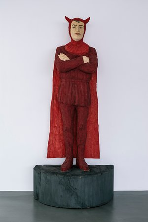 Vue de l'exposition Stephan Balkenhol, 2019 © Le Portique centre régional d'art contemporain du Havre