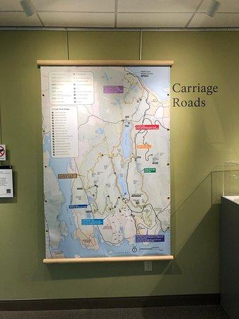 Gathering Information Inside The Acadia National Park Visitors Center