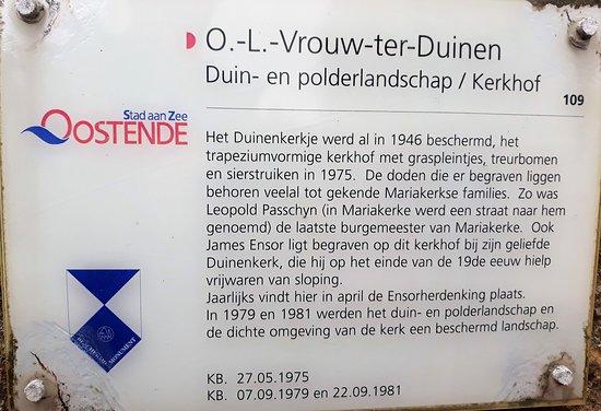 Onze-Lieve-Vrouw-ter-Duinenkerk: Explicatif du cimetière