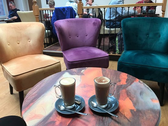 The Coffee House: Multi colour chairs with Coffee