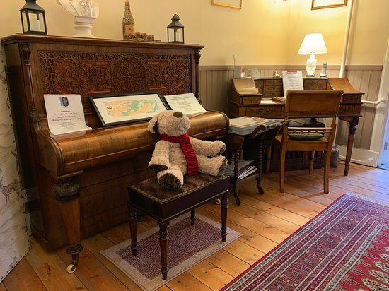 The old piano with curved keys