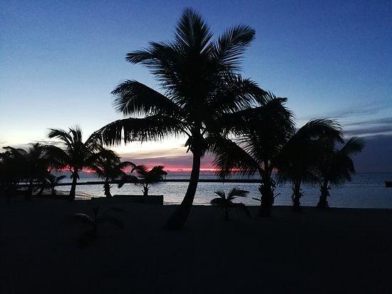 Sunset on Turneffe.