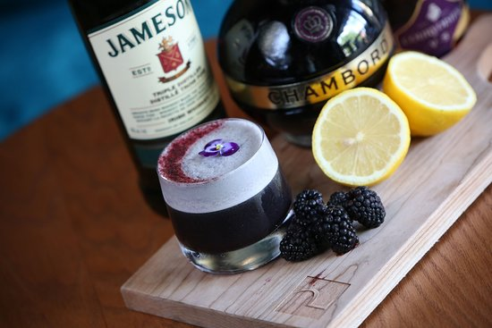 The Provincial: A weekly cocktail feature, house made syrup, house made salts, and fresh berries.