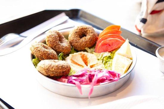 falafel y humus  vegano