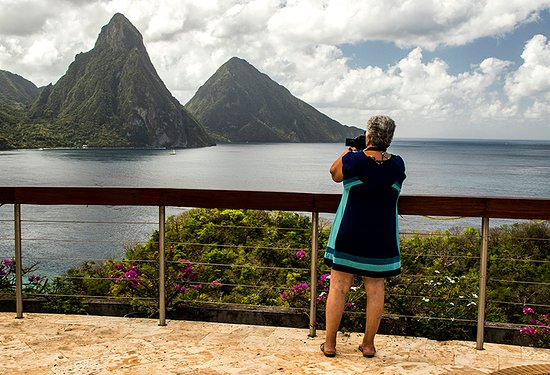 St. Lucia: Capturing the Pitons. From Jade Mountain Resort.