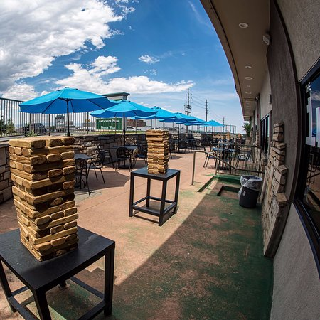 The 1UP Patio and Giant Jenga