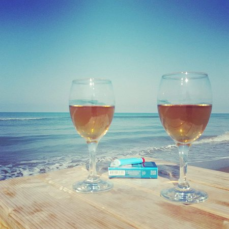 White wine and our beautiful sea