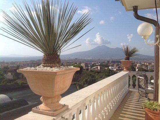 La Medusa Hotel - Dimora di Charme: Terrasse du petit déjeuner ave  vue sur le Vesuve