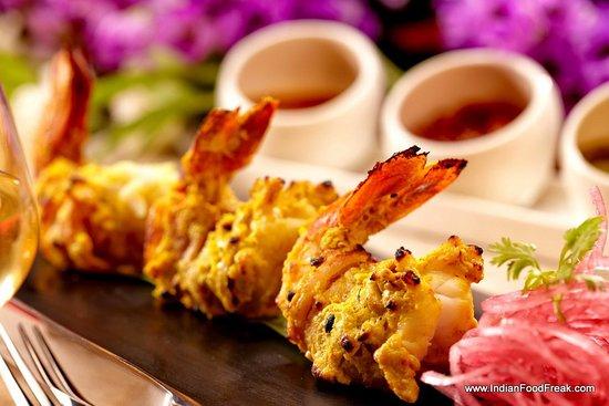 Samudra NYC Restaurant: Vegetarian & Non-Vegetarian: Shrimp Malai Kebab