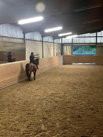 Vue sur le manège du club d'équitation