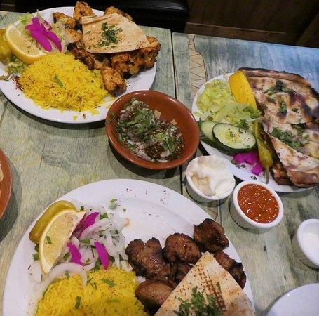 Shish Tawouq, Falafel and Hiba special arayes.