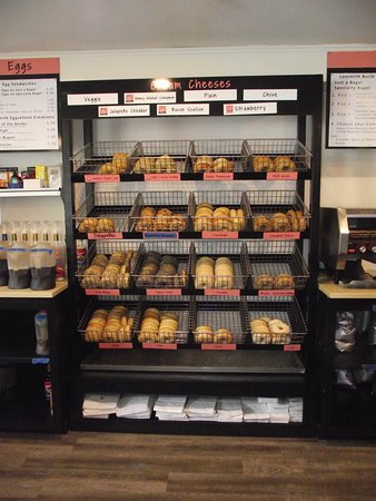 NH - DOVER - LOXSMITH - DISPLAY CASE FULL OF BAGELS
