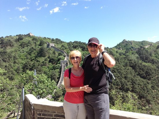 Heidy Visiting Beijing Great Wall