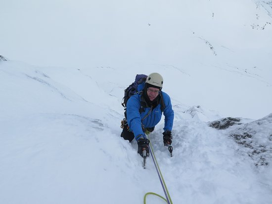 Ice climbing on Observatory Buttress, Ben Nevis