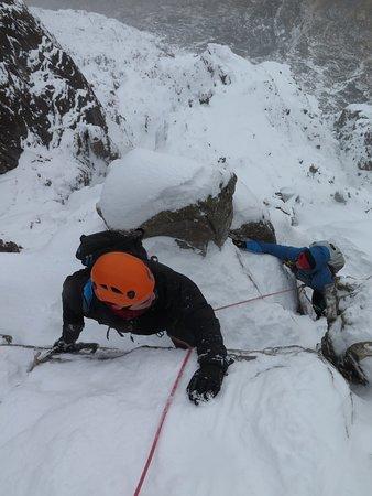 Curved Ridge, in winter, Glencoe