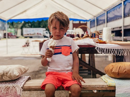 Misso, Estland: You can enjoy fresh ice-cream in the summertime, it's approved by Nopri's youngest generation!