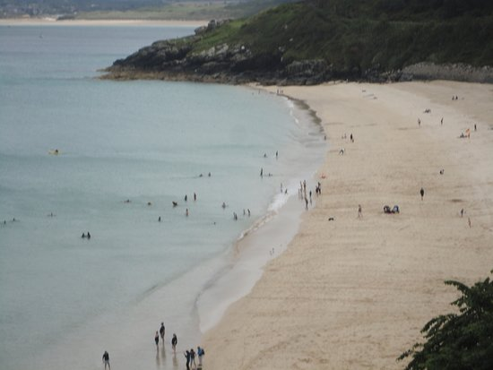 Porthgwidden Beach: Late in evening most people gone.