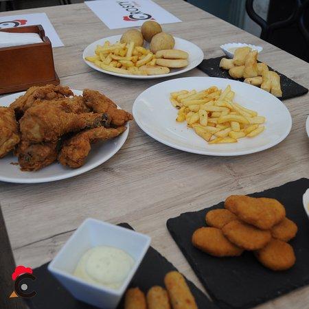 Complementos con el pollo.