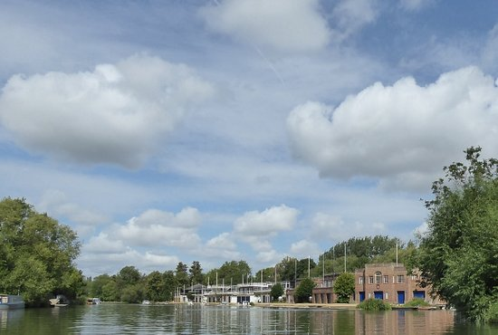 the colleges boathouses