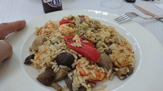 Restaurante La Estación: arroz con setas y gambas 🦐